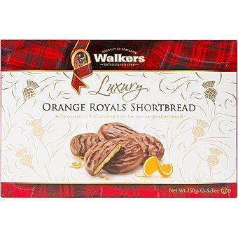WALKERS Luxury Shortbread galletas de mantequilla con naranja cubiertas de chocolate con leche  estuche 150 g