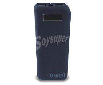 QILIVE Q.8047 Cargador de batería portátil, capacidad 10400mAh, 2 puertos Usb, voltaje de salida: 5V, 1A/2.1A. Función linterna, pantalla