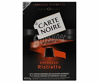Carte Noire Café molido de tueste natural en monodosis espresso ristreto 10 unidades