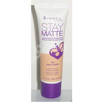 Rimmel London Base de maquillaje Stay Matte nº 103 True Ivory 1 ud