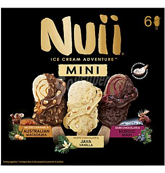 Nuii Helados mini surtido 2+2+2 6 unidades