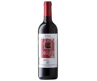 ORDATE Vino tinto crianza con denominación de origen Rioja botella de 75 centilitros