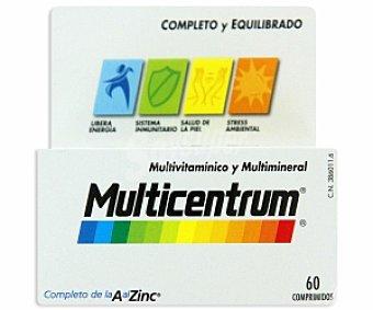 MULTICENTRUM Complemento alimenticio con vitaminas, minerales y luteína para adultos 60 Comprimidos