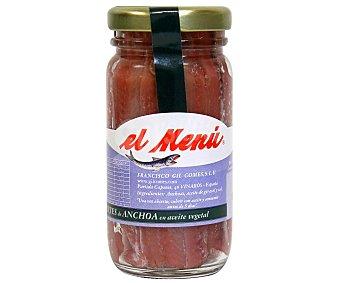 El Menu Filetes de anchoa en aceite vegetal Frasco de 100 mililitros