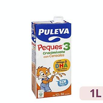 Puleva Peques Leche (3) de crecimiento con cereales, de 12 a 36 meses 1 l
