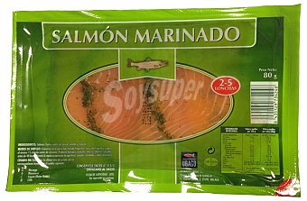 Ubago Salmon ahumado marinado lonchas Paquete 80 g
