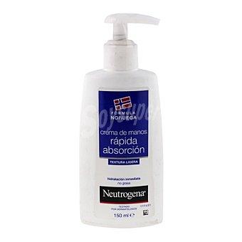 Neutrogena Crema de manos rápida absorción , hidratación inmediata Dosificador 150 Mililitros