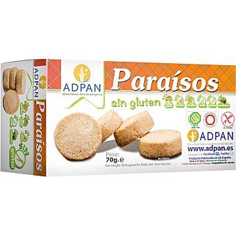ADPAN Paraísos Pastas artesanas sin gluten sin leche sin huevo Envase 70 g