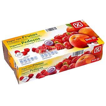 DIA Yogur con frutas panache Pack 8 unidades 125 g