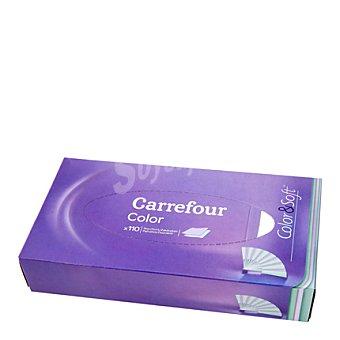 Carrefour Pañuelos facial color&soft 110 ud