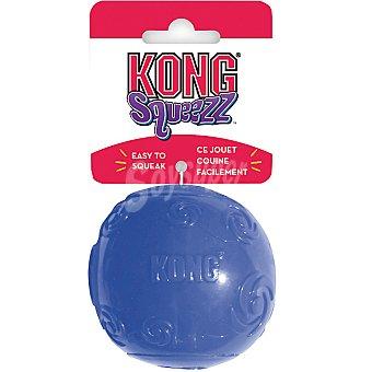 KONG SQUEEZZ Juguete para perro de caucho con forma de pelota colores surtidos talla L medida 13 cm 1 unidad