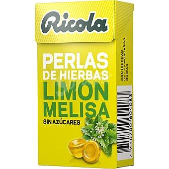 Ricola Perlas de limón-melisa sin azúcar Caja 25 g