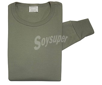 In Extenso Camiseta interior de manga larga con cuello redondo color gris, talla 56/XL.