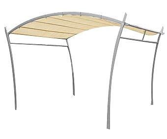 GARDEN STAR Cenador fabricado con estructura tubular de acero y cubierta de poliester retraible, medidas: 3x4x2.3/2.5 metros 1 unidad
