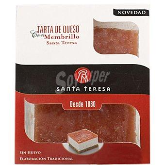 SANTA TERESA tarta de queso con membrillo pack 2 unidades 150 g