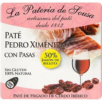 La pateria de sousa Paté de cerdo ibérico Pedro Ximenez con pasas Estuche 70 g