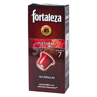 Fortaleza Cápsulas Café Natural 100% Arábica Compatibles con Máquinas Nespresso 10 c - Caja 50 g