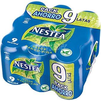 Nestea Refresco sabor mango y piña pack 9 latas 33 cl Pack 9 latas 33 cl