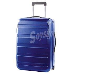 Productos Económicos Alcampo Maleta de 2 ruedas, rígida, color azul marino Medidas: 77.5x48.5x32