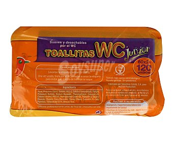 Auchan Toallitas WC Junior Pack de 60 Unidades