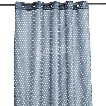 CASACTUAL Carmen cortina de baño gris con topos