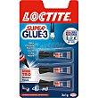 Super Glue-3 pegamento Mini Trio universal instantaneo pack 3 tubo 1 g Pack 3 tubo 1 g Loctite