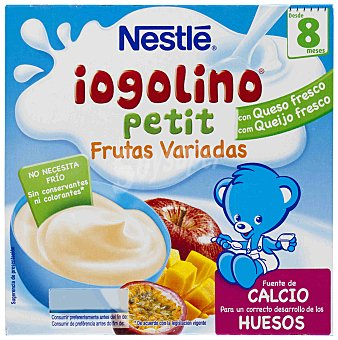 NESTLE IOGOLINO Petit postre lacteo frutas variadas X100 estuche 400 g pack 4