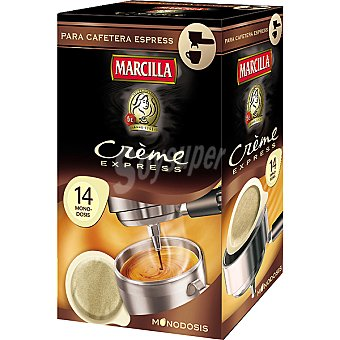 Marcilla Express 14 Monodosis Para Cafetera Express  Crème Express