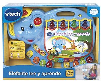 V-tech Elefante Lee y Aprende, juguete interactivo multiactividad con luces y sonidos, 3 modos de juego: Historias, música y letras V-TECH . 1 unidad