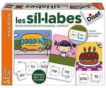 Diset Juego de palabras las sílabas en catalán, DISET.