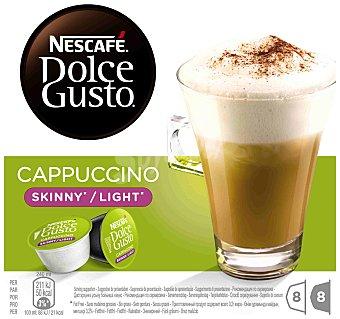 Dolce Gusto Nescafé Cápsulas Cappuccino Light (8 Cápsulas de Café + 8 Cápsulas de Leche) 16 capsulas ( 8 de café + 8 de leche)