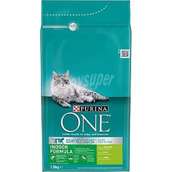 One Purina Especial gatos de interior alimento especial con pavo y arroz Bolsa 1,5 kg