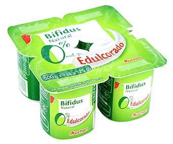 PRODUCTO ALCAMPO Bífidus desnatado (0% materia grasa) y con sabor natural edulcorado 4 x 125 g