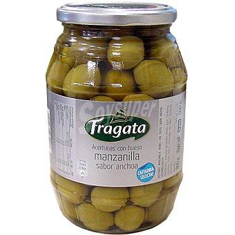 Fragata Aceitunas manzanilla sabor anchoa con hueso frasco 500 g neto escurrido Frasco 500 g neto escurrido