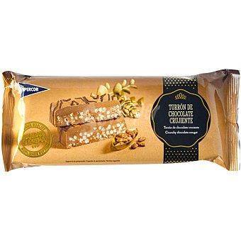 Hipercor Turrón de chocolate crujiente tableta 300 g