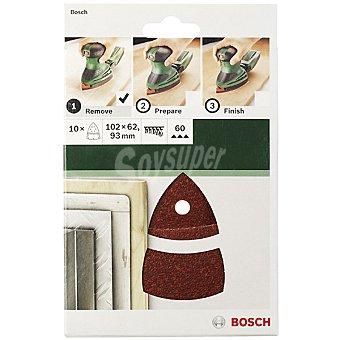 Bosch Set de hojas de lija para lijadora multiple