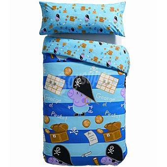 PEPPA PIG Tesoro Funda nórdica estampada en color azul para cama 90 cm