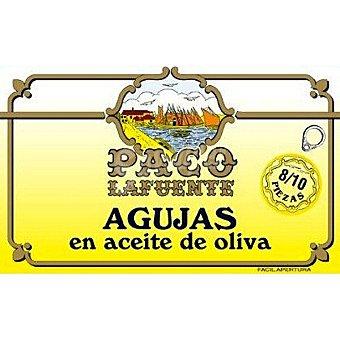 Paco lafuente Agujas en aceite de oliva 8-10 piezas Lata 87 g neto escurrido