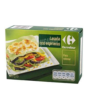 Carrefour Lasaña con espinacas precocida 250 g