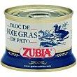 Bloc de Foie de pato Lata 130 g Zubia