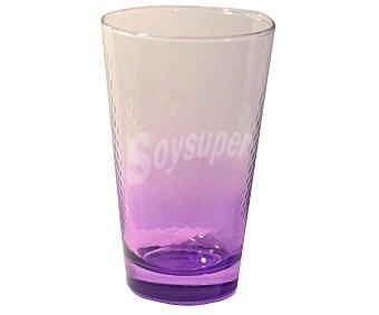 PASABAHCE Vaso de refrescos y agua modelo Petek, con capacidad de 40 centílitros, color morado efecto degradado 1 Unidad