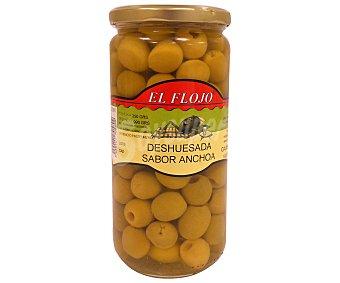 Manzanilla Aceitunas deshuesada sabor anchoa el floj 350 GRS