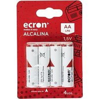 Ecron Pila alcalina LR06 Pack 4 uds