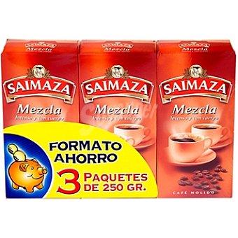 Saimaza Café molido mezcla Pack 3 paquetes 250 g