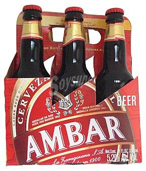 Ambar Cerveza sin gluten Botellin pack 6 x 330 cc - 1980 cc