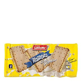 Bandama Galletas tostadas con crema sabor limón 200 g