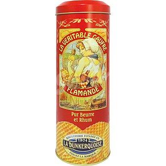 LA DUNKERQUOISE Gaufres de mantequilla y ron envase rojo  lata de 400 g
