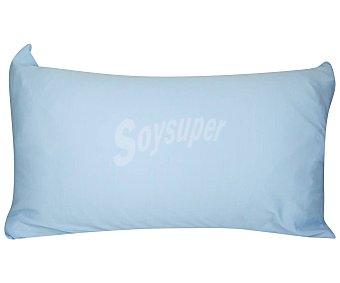Productos Económicos Alcampo Funda protectora de almohada 100% poliéster color azul, 90cm. ALCAMPO.