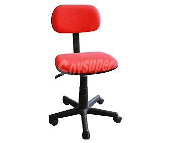 Sdpe Silla de escritorio giratoria para oficina, resistente y cubierta por teta color rojo, reforzada con materia de tela y pvc., SPE