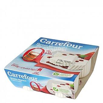 Carrefour Queso blanco Pack de 4 unidades de 62,5 g